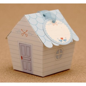 Blue Special Day Gift with Home Design